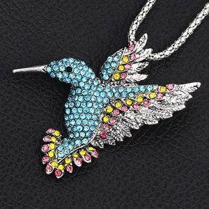Betsey Johnson hummingbird necklace/brooch